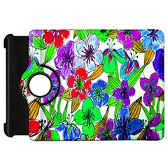 Background Of Hand Drawn Flowers With Green Hues Kindle Fire HD 7