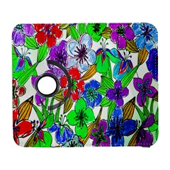 Background Of Hand Drawn Flowers With Green Hues Galaxy S3 (Flip/Folio)