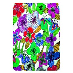Background Of Hand Drawn Flowers With Green Hues Flap Covers (S)