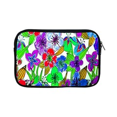 Background Of Hand Drawn Flowers With Green Hues Apple iPad Mini Zipper Cases