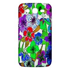 Background Of Hand Drawn Flowers With Green Hues Samsung Galaxy Mega 5 8 I9152 Hardshell Case