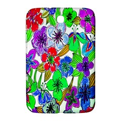 Background Of Hand Drawn Flowers With Green Hues Samsung Galaxy Note 8 0 N5100 Hardshell Case