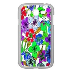 Background Of Hand Drawn Flowers With Green Hues Samsung Galaxy Grand DUOS I9082 Case (White)