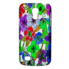 Background Of Hand Drawn Flowers With Green Hues Galaxy S4 Mini