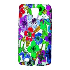 Background Of Hand Drawn Flowers With Green Hues Galaxy S4 Active