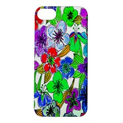 Background Of Hand Drawn Flowers With Green Hues Apple Iphone 5s/ Se Hardshell Case