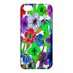 Background Of Hand Drawn Flowers With Green Hues Apple iPhone 5C Hardshell Case