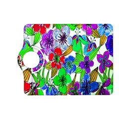 Background Of Hand Drawn Flowers With Green Hues Kindle Fire Hd (2013) Flip 360 Case