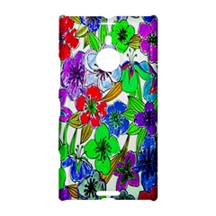 Background Of Hand Drawn Flowers With Green Hues Nokia Lumia 1520