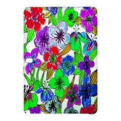 Background Of Hand Drawn Flowers With Green Hues Samsung Galaxy Tab Pro 10 1 Hardshell Case