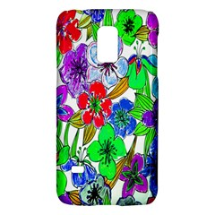 Background Of Hand Drawn Flowers With Green Hues Galaxy S5 Mini