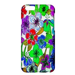 Background Of Hand Drawn Flowers With Green Hues Apple iPhone 6 Plus/6S Plus Hardshell Case