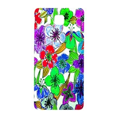 Background Of Hand Drawn Flowers With Green Hues Samsung Galaxy Alpha Hardshell Back Case