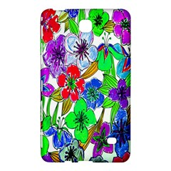Background Of Hand Drawn Flowers With Green Hues Samsung Galaxy Tab 4 (7 ) Hardshell Case