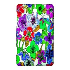 Background Of Hand Drawn Flowers With Green Hues Samsung Galaxy Tab S (8 4 ) Hardshell Case