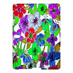 Background Of Hand Drawn Flowers With Green Hues Samsung Galaxy Tab S (10.5 ) Hardshell Case
