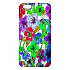Background Of Hand Drawn Flowers With Green Hues iPhone 6 Plus/6S Plus TPU Case