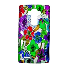 Background Of Hand Drawn Flowers With Green Hues LG G4 Hardshell Case