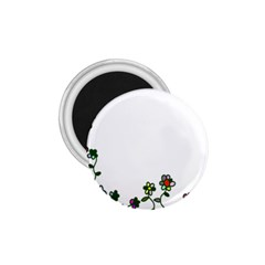 Floral Border Cartoon Flower Doodle 1.75  Magnets