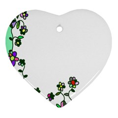 Floral Border Cartoon Flower Doodle Ornament (heart)