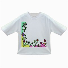 Floral Border Cartoon Flower Doodle Infant/Toddler T-Shirts