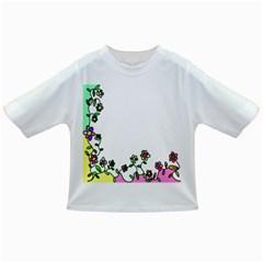 Floral Border Cartoon Flower Doodle Infant/toddler T Shirts