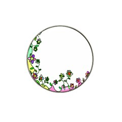 Floral Border Cartoon Flower Doodle Hat Clip Ball Marker