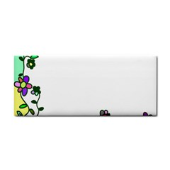 Floral Border Cartoon Flower Doodle Cosmetic Storage Cases