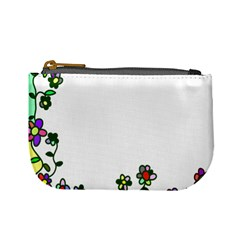 Floral Border Cartoon Flower Doodle Mini Coin Purses