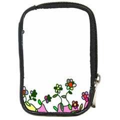 Floral Border Cartoon Flower Doodle Compact Camera Cases