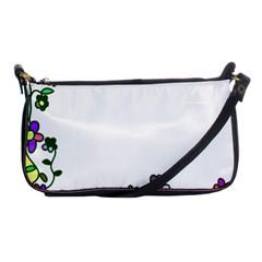 Floral Border Cartoon Flower Doodle Shoulder Clutch Bags
