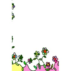 Floral Border Cartoon Flower Doodle 5 5  X 8 5  Notebooks