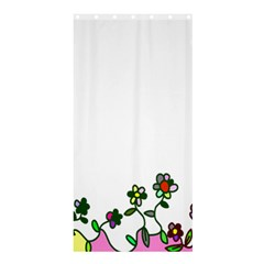 Floral Border Cartoon Flower Doodle Shower Curtain 36  X 72  (stall)