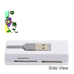 Floral Border Cartoon Flower Doodle Memory Card Reader (stick)
