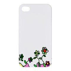 Floral Border Cartoon Flower Doodle Apple Iphone 4/4s Hardshell Case