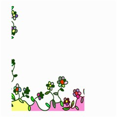 Floral Border Cartoon Flower Doodle Small Garden Flag (Two Sides)