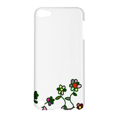 Floral Border Cartoon Flower Doodle Apple Ipod Touch 5 Hardshell Case