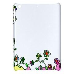 Floral Border Cartoon Flower Doodle Apple Ipad Mini Hardshell Case