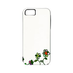 Floral Border Cartoon Flower Doodle Apple Iphone 5 Classic Hardshell Case (pc+silicone)