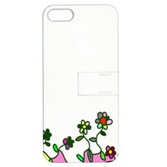 Floral Border Cartoon Flower Doodle Apple iPhone 5 Hardshell Case with Stand