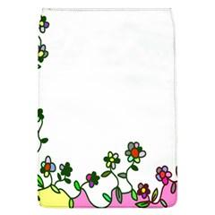 Floral Border Cartoon Flower Doodle Flap Covers (l)