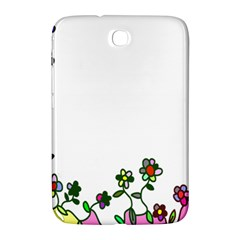 Floral Border Cartoon Flower Doodle Samsung Galaxy Note 8 0 N5100 Hardshell Case