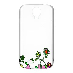 Floral Border Cartoon Flower Doodle Samsung Galaxy S4 Classic Hardshell Case (PC+Silicone)