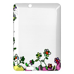 Floral Border Cartoon Flower Doodle Kindle Fire Hdx Hardshell Case