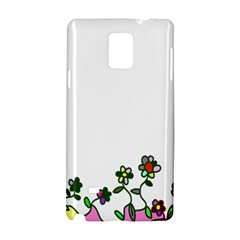 Floral Border Cartoon Flower Doodle Samsung Galaxy Note 4 Hardshell Case