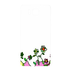 Floral Border Cartoon Flower Doodle Samsung Galaxy Alpha Hardshell Back Case