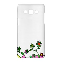 Floral Border Cartoon Flower Doodle Samsung Galaxy A5 Hardshell Case