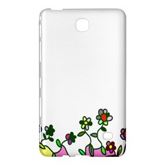 Floral Border Cartoon Flower Doodle Samsung Galaxy Tab 4 (7 ) Hardshell Case