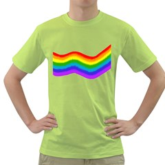 Watercolour Rainbow Colours Green T-Shirt
