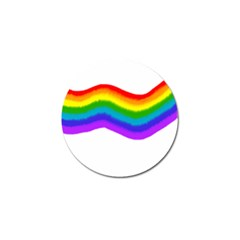 Watercolour Rainbow Colours Golf Ball Marker
